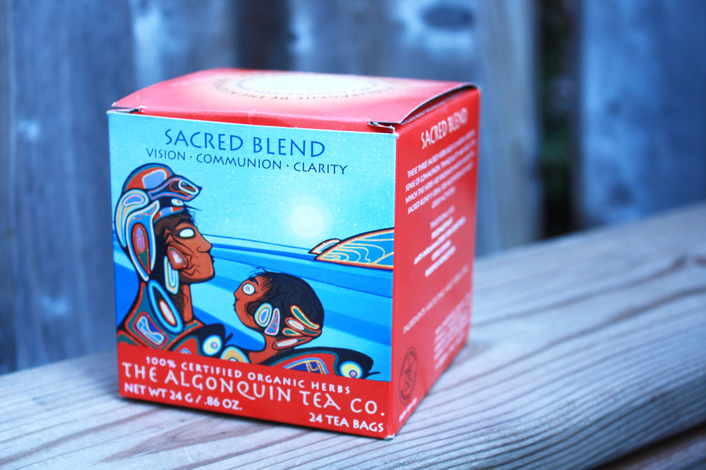box of Sacred Blend tea for vision, community, and clarity from The Algonquin Tea Company