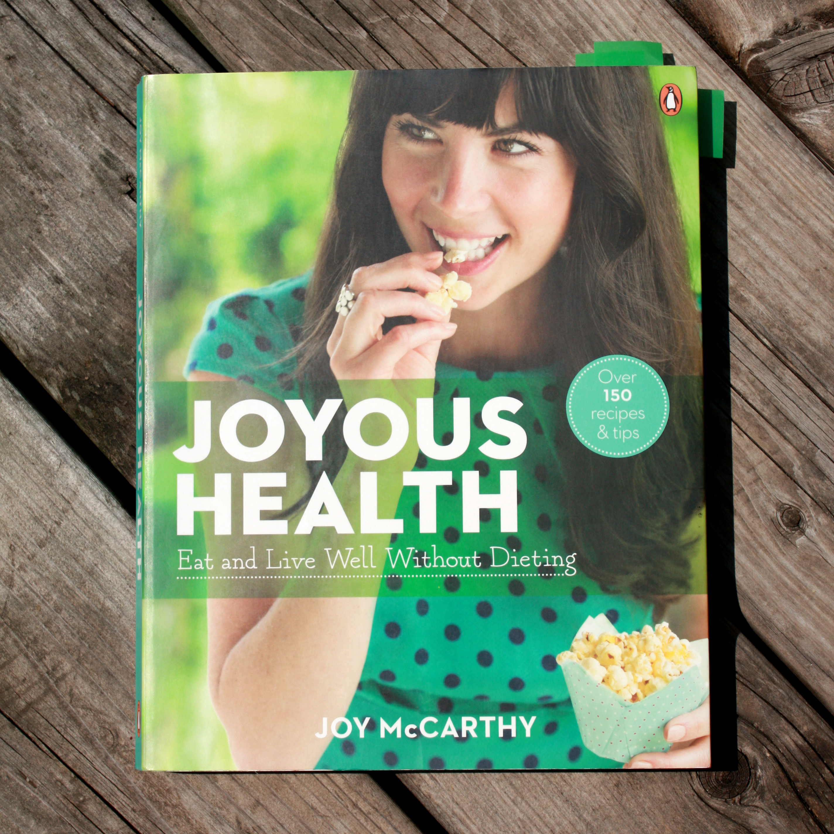 "Cover shot of the ""Joyous Health"" cookbook by Joy McCarthy"
