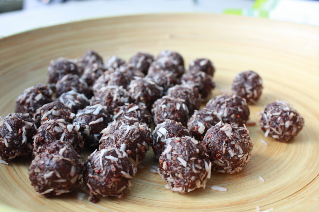 Energy balls made at Marni Wasserman's coconut demo