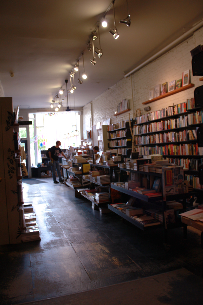 Type Bookshop (view of fiction section and displays from the back of the store)