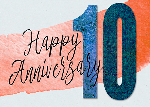 """Happy 10th Anniversary!"" greeting card"