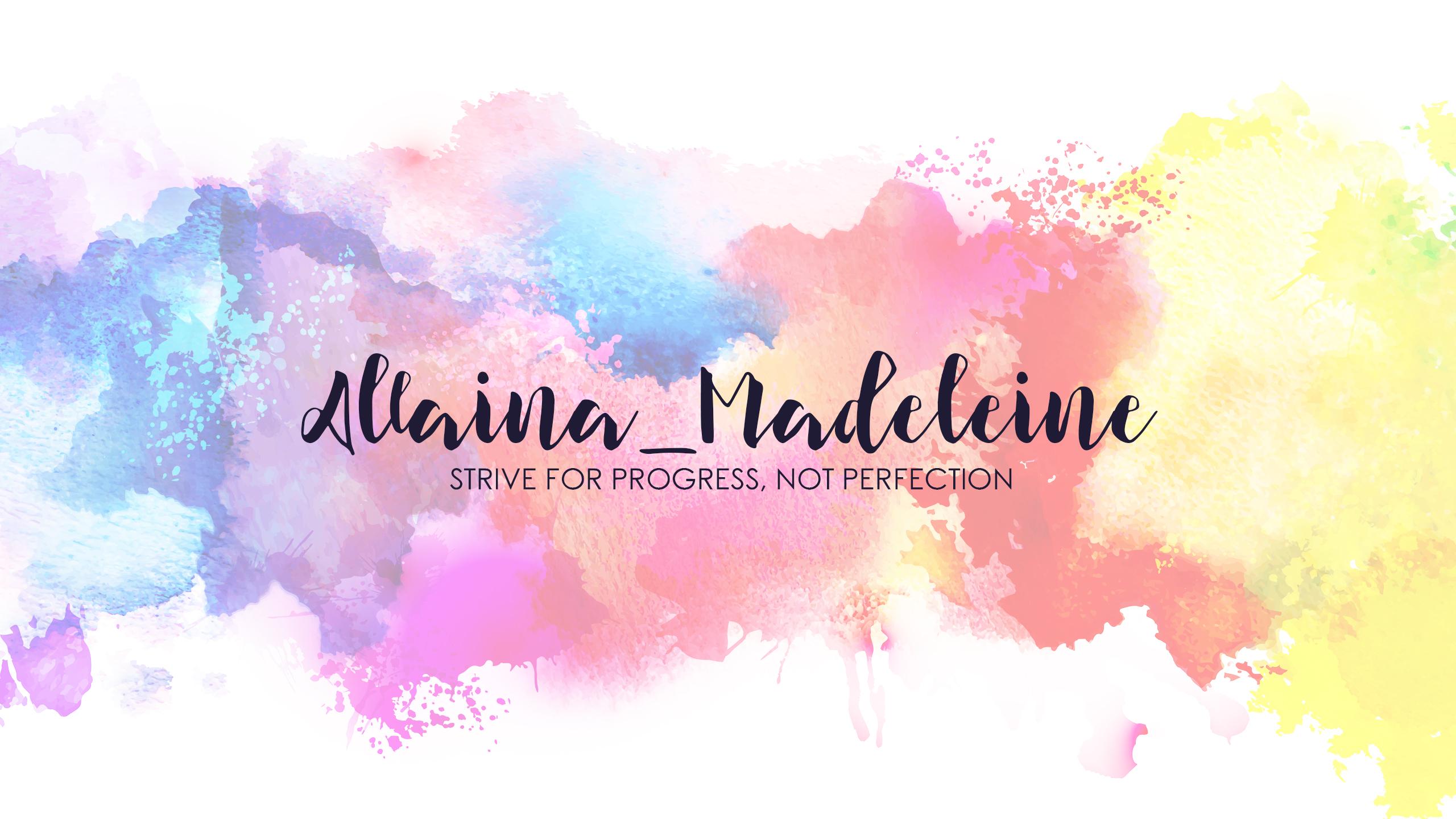 youtube banner - allaina madeleine