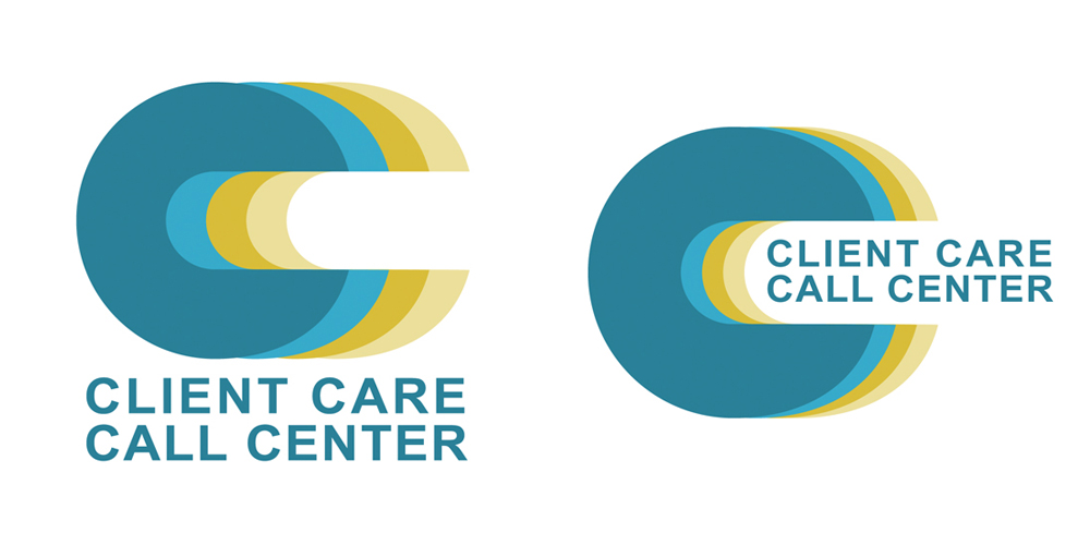 faded logo concept for Client Care Call Center