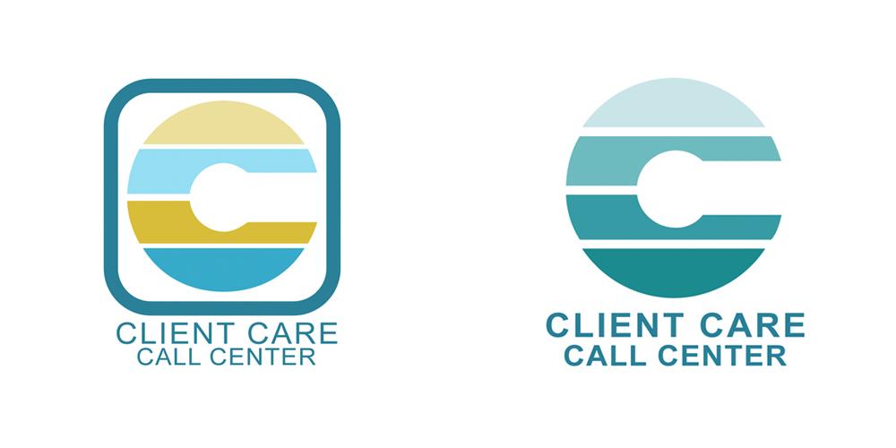 stripy logo design for Client Care Call Center