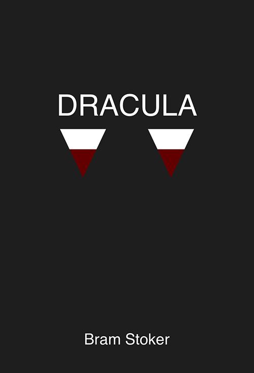 minimalist book cover for Bram Stoker's Dracula
