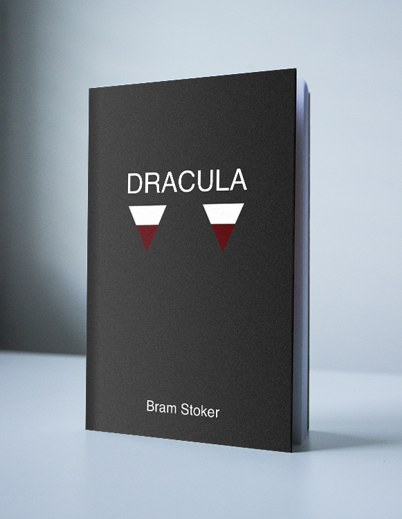 mockup of a minimalist interpretation of Bram Stoker's Dracula
