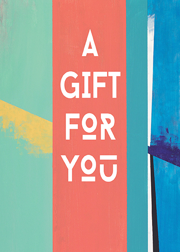 """A Gift For You"" Greeting Card"