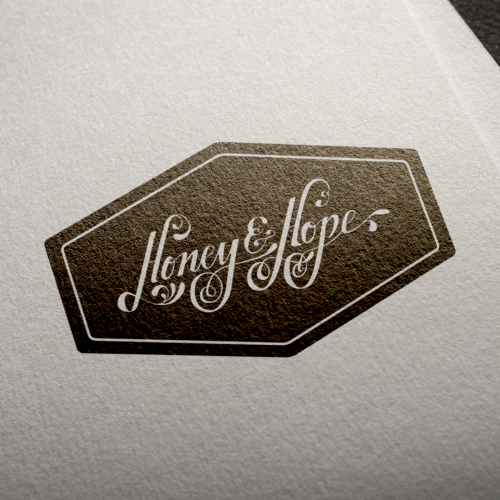 handlettered logo for the luxury honey brand, Honey & Hope