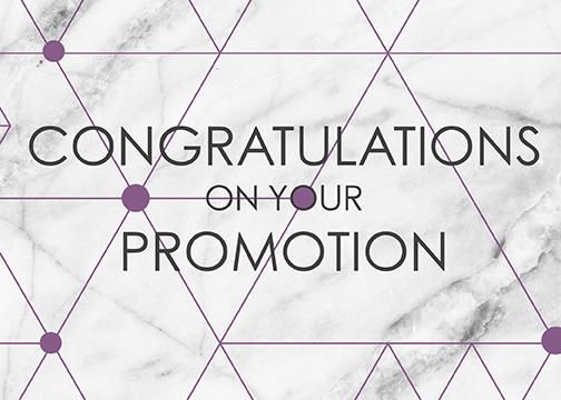clean, geometric, and modern Congratulations on Your Promotion greeting card