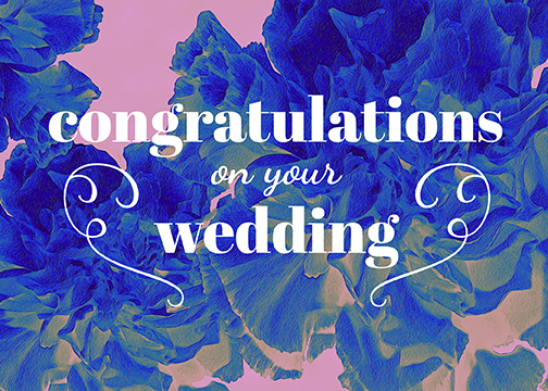 vibrant and playful wedding greeting card