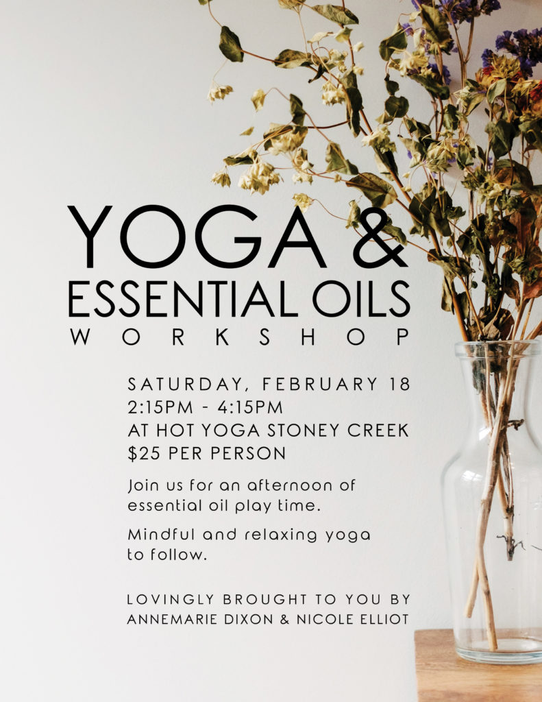 Yoga And Essential Oils Workshop Flyer Print